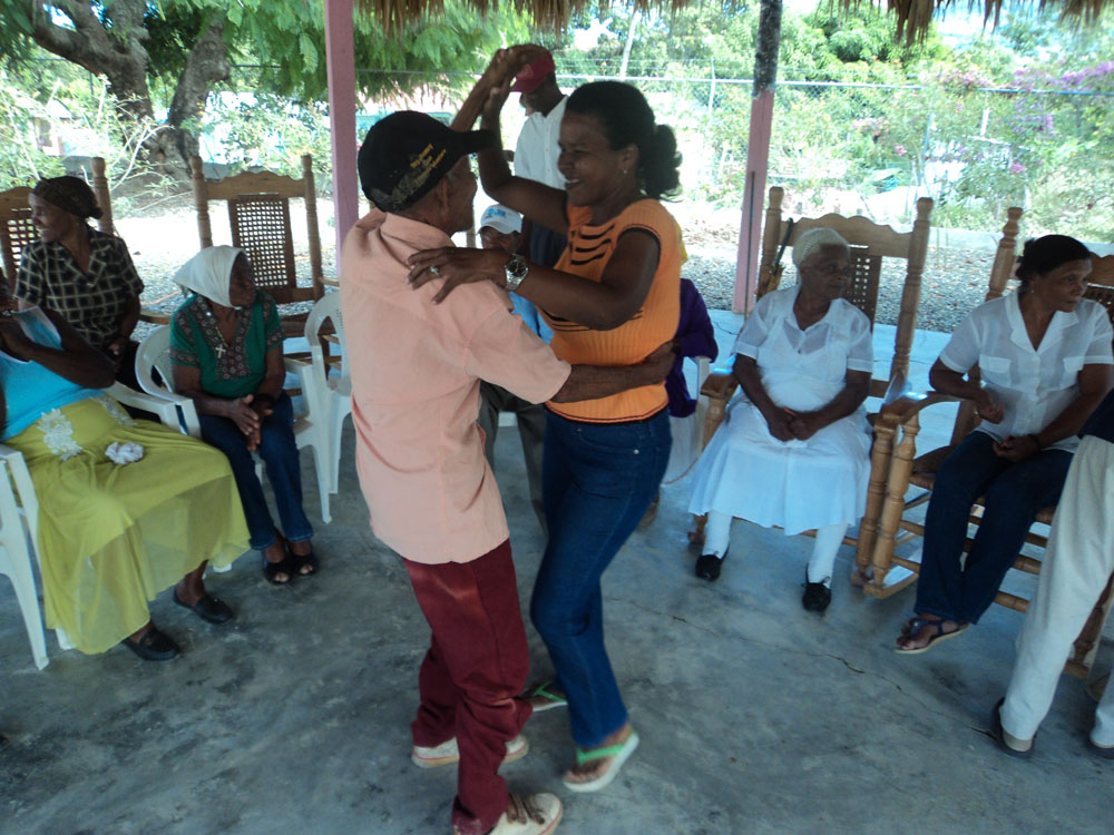 Seniors dancing at their Day Care Center.